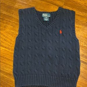Navy Ralph Lauren sweater vest